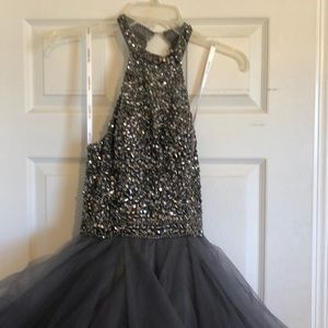 Gray/silver prom dress. Worn once